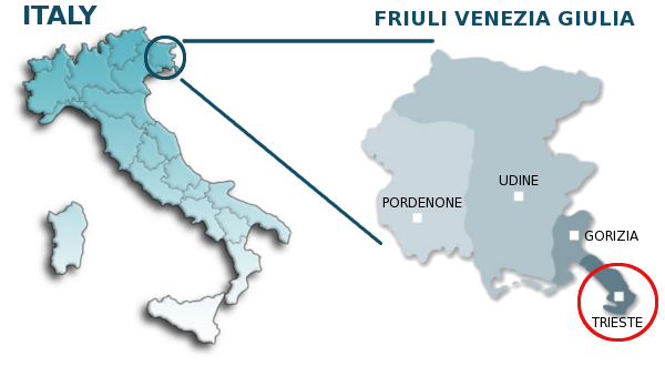 Friuli Italy Map.Map Of Italy And Friuli Venezia Giulia G8 Forum